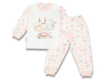 Пижама 3-4 года персиковая 75751